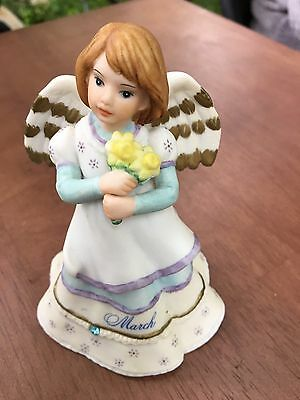 Angelic Melodies Schmid Musical Keepsakes March Birth Stone Music Box 1995
