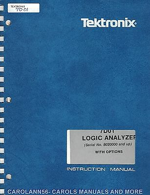 TEKTRONIX Manual 7D01 LOGIC ANALYZER WITH OPTIONS