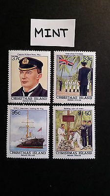 No-1-1988  CHRISTMAS  ISLAND-CENT; OF  ANNEXATION  4    STAMPS - MINT--MNH