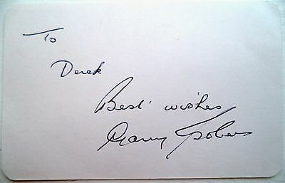 Gary Sobers – West Indies Test Player 1954-74 - Original Ink Autograph