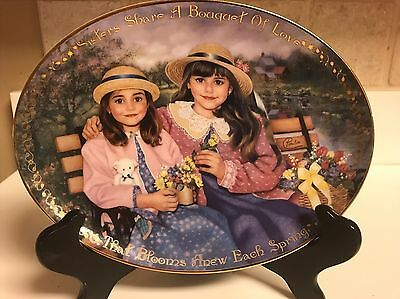Seasons of Sharing Sisters for Life Sisters Share a Bouquet of Love Plate