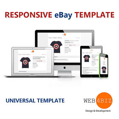 eBay Listing Template Auction HTML & CSS 2017/18 Approve Universal & Responsive