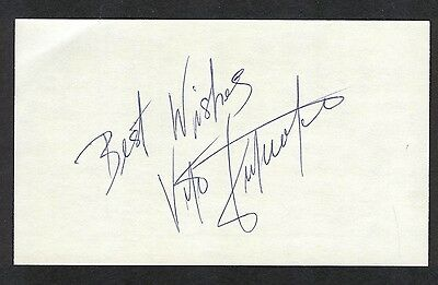 Vito Antuofermo World Middleweight Champion Boxer Signed 3x5 Index Card COA