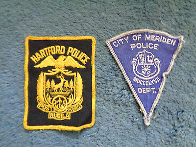 (2)Connecticut Police patches  Hartford and Meridan