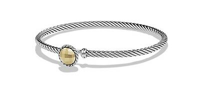 David Yurman Chatelaine Bracelet in 18k Gold & Sterling Silver B12609 S8AGG $325