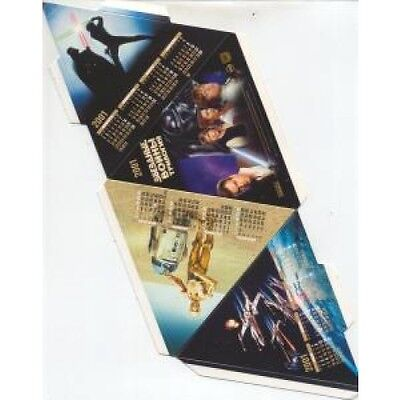 STAR WARS 2001 CALENDAR Russian 3D Pyramid Shape Calendar, Not Been Folded