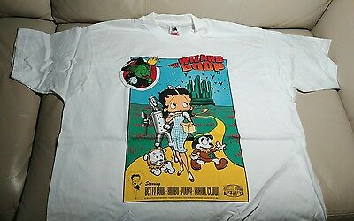 New XL 90s Wizard of Boop Movie Poster Parody Betty Boop Cotton T-Shirt