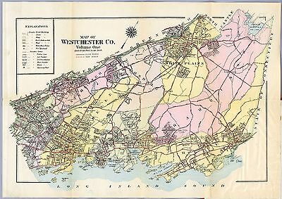 1914 WESTCHESTER COUNTY map plat NEW YORK old GENEALOGY Atlas LAND OWNER DVD P48