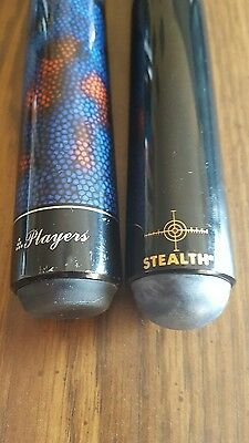 Stealth and Players pool cues package deal with soft padded case