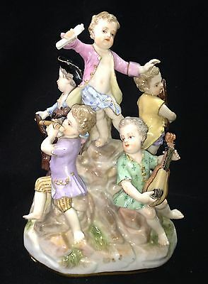 19th C MEISSEN Children Musicians Figural Group.  Make Offer!!