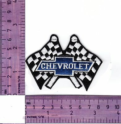 Chevrolet Racing Flags  Embroidered Badge / Cloth Patch  Iron or Sew on