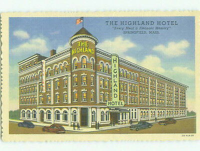 Linen THE HIGHLAND HOTEL Springfield Massachusetts MA HQ4262