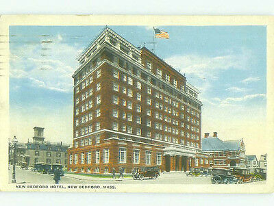 Damaged W-Border NEW BEDFORD HOTEL New Bedford Massachusetts MA HQ4345