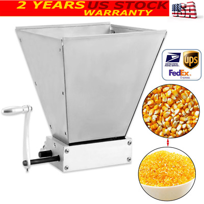 Electric Grain Mill Barley Grinder Malt Crusher Hold Up To 11lbs Crushing Dy 368