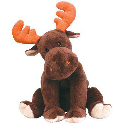 TY Pluffies - LUMPY the Moose (8.5 inch) - MWMTs Stuffed Animal Toy