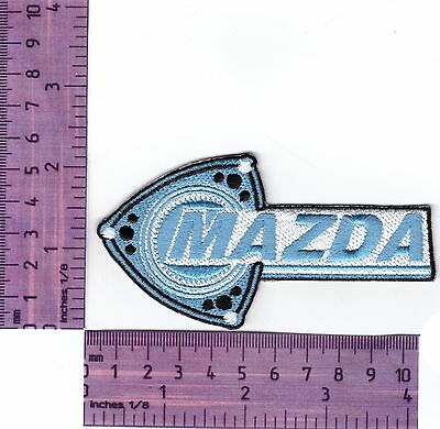 Mazda Rotary Logo Embroidered Badge / Cloth Patch  Iron or Sew