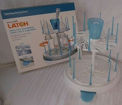 Munchkin Latch Spinning Drying Rack Baby Bottles Infants NEW!!