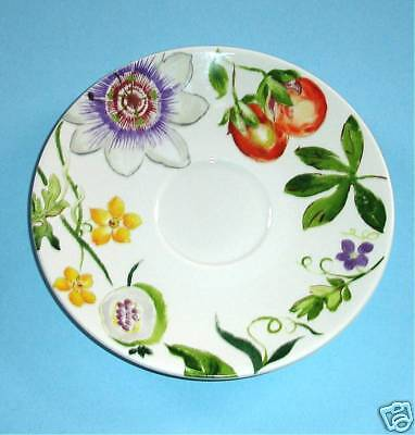 Gien Passiflore Breakfast Saucer French Faience New