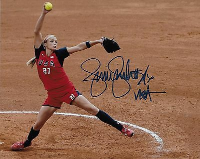 JENNIE FINCH Signed Autographed 8x10 Photo USA Softball Olympic Gold Medalist