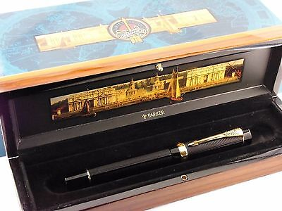 "Parker ""Greenwich Meridian 2000"" Fountain Pen-Special Edition 1999-Box & Papers"
