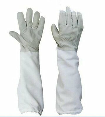 Large Beekeeping Gloves Goatskin Bee Keeping With Vented Beekeeper Long Sleeves