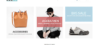 Men's Collection Store Magento for Sale