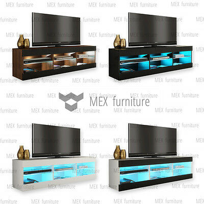 Modern TV Unit Cabinet Stand Sideboard Cupboard  FREE LED light!