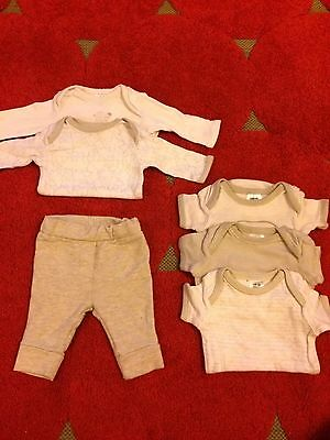 Target baby bodysuit set pants 0000 outfit neutral twins coverall boy girl EUC