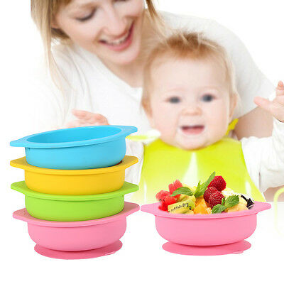 Baby Kids Dish Silicone Placemat Table Suction Mat Plates Bowl Tray Tableware TP