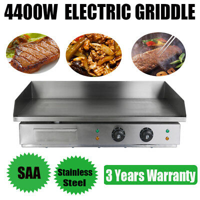 4400w Electric Griddle Hot Plate Countertop Pork Lamb Commercial BBQ