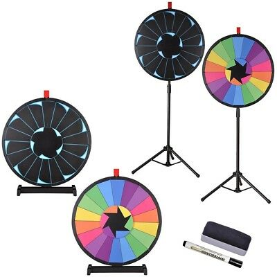 """WinSpin™ 24"""" Tabletop / Floor Stand Editable Prize Wheel Carnival Spining Game"""