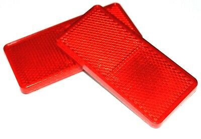 Red Reflector Self Adhesive Pack of 4 94mm x 44mm Car Trailer Caravan Tailboard