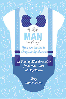 10 Stunning Personalised Boy or Girl Baby Shower Invitations New 2018 Designs