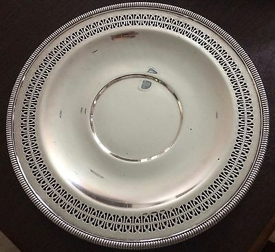 "Silver Plated Serving Tray -  12.25"" diameter - W.M. Rogers #4221"