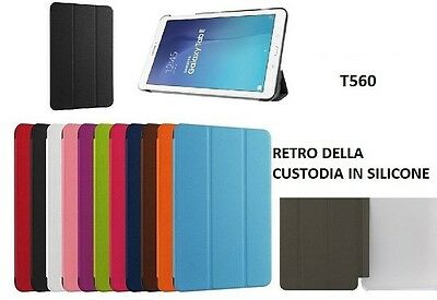 Smart Cover Slim Samsung Galaxy Tab E 9.6 Sm-T560 Sm-T561 Custodia Tablet -Mnt-
