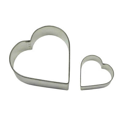 PME HEART Cookie & Cake Biscuit Decorating Icing Sugarcraft Cutter 2 Pack