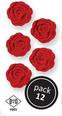 PME RED Cupid Roses Floral Flowers Icing Sugar Cup Cake Decorations 12 Pack