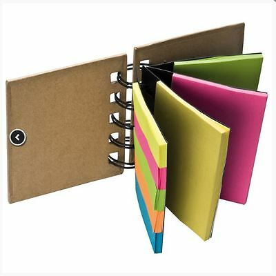Sticky Note Ring Binder Book Highlight Colour School Stationery Page Marker Post