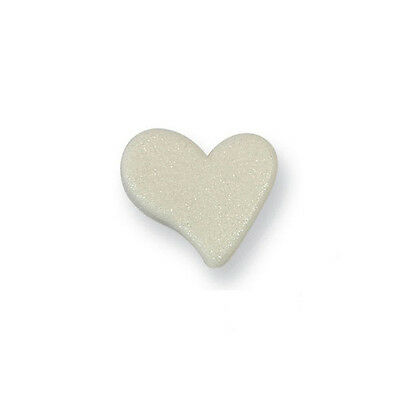 PME Small Pearl Heart Cup Cake Icing Sugar Edible Sugarcraft Decoration 6 Pack
