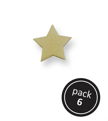 PME Small Gold Wireless Star Cup Cake Icing Edible Sugarcraft Decoration 6 Pack