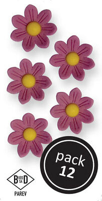 PME LILAC Pointed Daisies Floral Flowers Icing Sugar Cup Cake Decorations 12 Pk