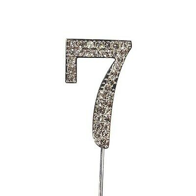 Culpitt 7 DIAMANTE NUMBER Topper Wedding Anniversary Birthday Cake Decorations