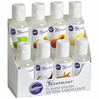 Wilton Treatology Food Cake Batter Icing Fondant Flavor System Concetrates 8 Pk