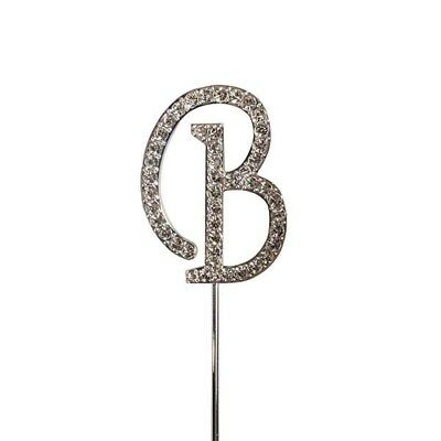 Culpitt B Diamante Letter Topper Wedding Anniversary Birthday Cake Decorations
