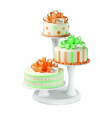 Wilton 3 TIER PILLAR Cakes Mini Muffins Appetizers Stand Display Tray Decorating