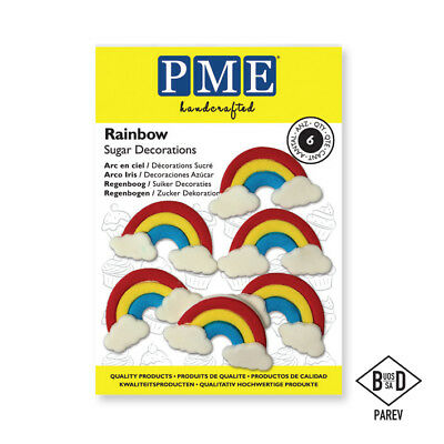 PME Handcrafted RAINBOWS Sugar Decoration Edible Cake Topper Icing Decorating