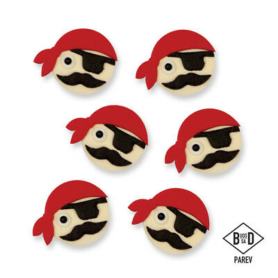 PME Handcrafted PIRATES Sugar Decoration Edible CupCake Topper Icing Decorating
