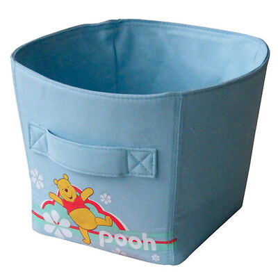 Ordinett Blue Winnie the Pooh Medium-Sized Canvas Storage Basket Bin Kids