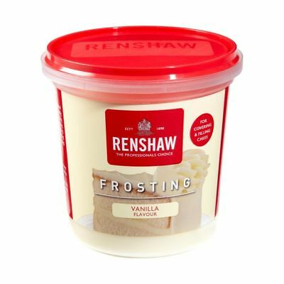 Renshaw Ready Made Vanilla Frosting Icing For Cakes & Cupcakes Decorating 400g