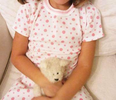 vintage new Ladybird girls Pj's pink polka dot cute summer age 5 & 7 short sleev